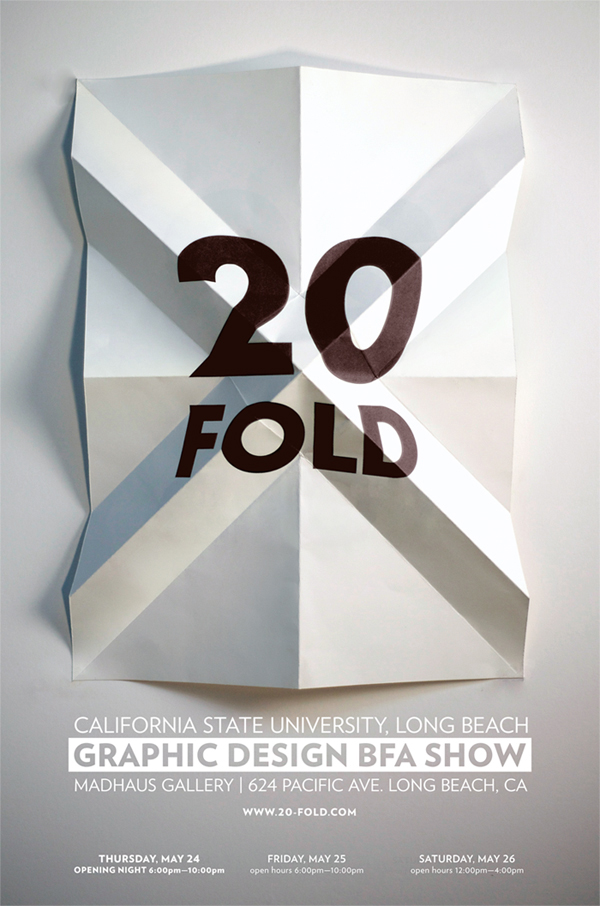 20 Fold Show Poster